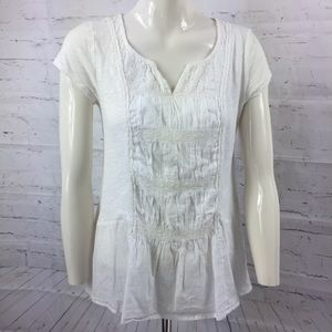 Anthropologie Meadow Rue XS Peasant Blouse